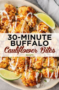 Whether you're looking for a skinny version of your favorite wings or a tasty meatless appetizer, these 30-minute buffalo cauliflower bites should do the trick.