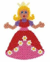 Prinzessin / Hama Perlen - perler beads - Bügelperlen