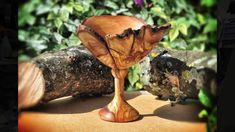 Ξυλοτορνος - κατασκευη ποτηριου απο ξυλο ελιας / woodturning - olive woo...
