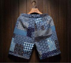 2017 Men's Beach Casual Art Shorts Comfort Printing Men's Linen M7 - Shorts