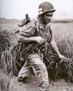French Legionnaires parachutists at Dien Bien Phu, Vietnam, Indochina War, 1954