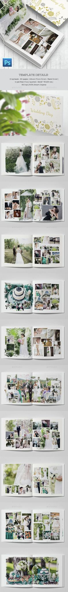 Wedding Photobook Template PSD. Download here: http://graphicriver.net/item/wedding-photobook-template/14911105?ref=ksioks