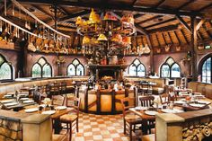 The interior view of Polles Keuken (Polles Kitchen) in the Efteling Restaurant Themes, Restaurant Design, Restaurant Bar, Legoland Windsor, Hansel Y Gretel, Hotels For Kids, Adventure World, Hotel Concept, Park Hotel