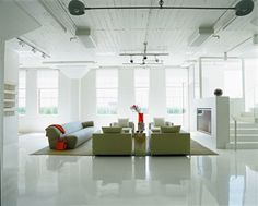 white epoxy floor - Google Search