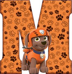 *✿**✿*M*✿**✿*DE ALFABETO DECORATIVO Zuma Paw Patrol, Paw Patrol Party, Paw Patrol Birthday, Dog Themed Parties, 3rd Birthday Parties, Projects For Kids, Craft Projects, Alphabet, Alfabeto Animal