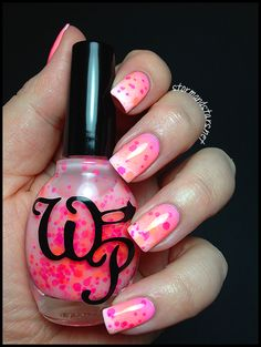 Wicked Polish Pox over Cult Nails Tempest, Sally Hansen Pretty In Hot Pink, and China Glaze Flip Flop Fantasy