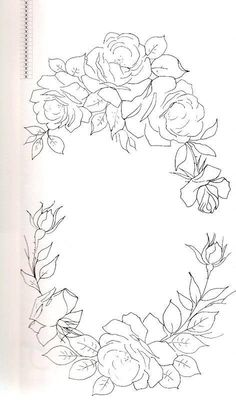 Hand Embroidery Designs, Ribbon Embroidery, Embroidery Patterns, Painting Patterns, Craft Patterns, Flower Patterns, Tole Painting, Fabric Painting, Interior Painting