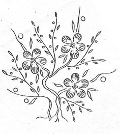 flower bush (hand embroidery pattern/transfer)