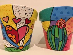 Idea Of Making Plant Pots At Home // Flower Pots From Cement Marbles // Home Decoration Ideas – Top Soop Flower Pot Art, Flower Pot Design, Flower Pot Crafts, Vase Crafts, Clay Pot Crafts, Painted Plant Pots, Painted Flower Pots, Decorated Flower Pots, Pottery Painting Designs