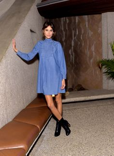 Alexa Chung attends the Alexa Chung for AG Los Angeles launch party in Beverly Hills, California.