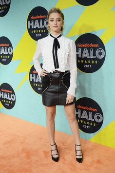 Lizzy Greene attends the 2017 Nickelodeon Halo Awards at Pier 36 on November 4, 2017 in New York City.