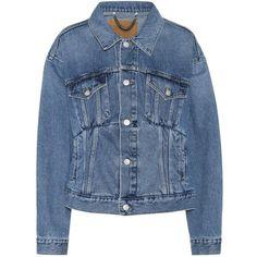 Balenciaga Denim Jacket (5558015 PYG) ❤ liked on Polyvore featuring outerwear, jackets, coats & jackets, blue, blue jackets, denim jacket, blue jean jacket, balenciaga and jean jacket
