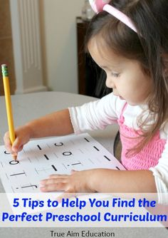 Quick tips on how to find the best preschool curriculum.