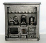 RG008     Sm. Victorian  Range as displayed with items133 mm w. x 133 mm h. x 42 mm d.   £138.00