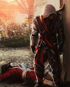 aaand im done dogsitting now. its good to be home. and have some extra money.  #assassinscreed #ac #assassin #hiddenblade by devilzsmile.com #devilzsmile
