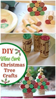 Homemade Projects & Ideas for Christmas Decoration: Wine Cork Christmas Tree Craft. Cork Christmas Trees, Christmas Tree Crafts, Christmas Projects, Holiday Crafts, Christmas Holidays, Wine Cork Projects, Wine Cork Crafts, Crafts From Recycled Materials, Homemade Christmas Decorations