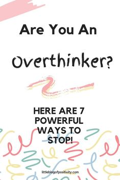 How To Stop Overthinking - 7 Powerful Ideas - Do you want to stop overthinking? Is your brain stuck on a loop? Going over and over problems? Check out these 7 powerful ways to stop overthinking Anxiety Tips, Understanding Anxiety, Stress Disorders, Self Improvement Tips, Anxiety Relief, Coping Skills, Positive Mindset, Personal Development, Wisdom Quotes