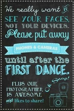 Ceremony Signs on Pinterest | Unplugged Wedding Sign, Unplugged ...