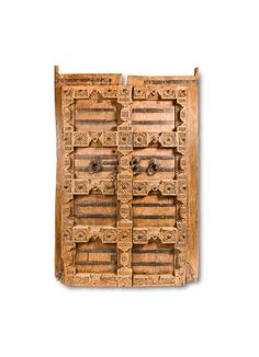 Add some serious style to your home with this antique door that offers unrivaled grace. Artistically crafted with distressed finishing, the panel has accentuated floral carvings. For the ease of pull and handling, two knuckles and a chain latch are provided. Ideal for plush home furnishing, museums and places of historical relevance, these doors can add a new dimension to … Timber Door, Wood Doors, Indian Doors, Make Your Mark, Museums, Home Furnishings, Plush, Carving, Chain