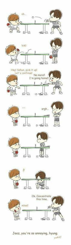 SeBaek Fanart *3* || cr. to the owner Exo Anime, Exo Couple, Exo Fan Art, Exo Memes, Cute Chibi, Kpop Fanart, Kyungsoo, Shinee, Drawing Sketches