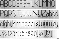 Cross Stitch Font Backstitch Fontscape home \x26gt; simulation \x26gt; needlework \x26gt; sans-serif