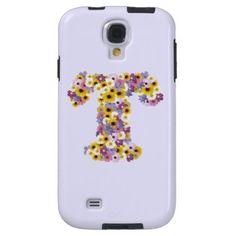 Monogram letter T Galaxy S4 Case - initial gift idea style unique special diy
