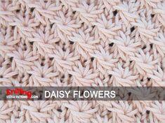 Daisy knitting stitch pattern