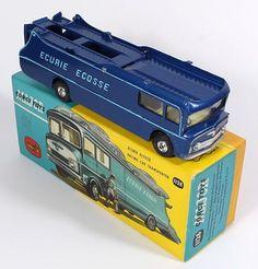 Corgi Toys Major 1126 Ecurrie Ecosse Racing Transporter DkBlue with Light Blue Letters. Pic. QualityDiecastToys.com