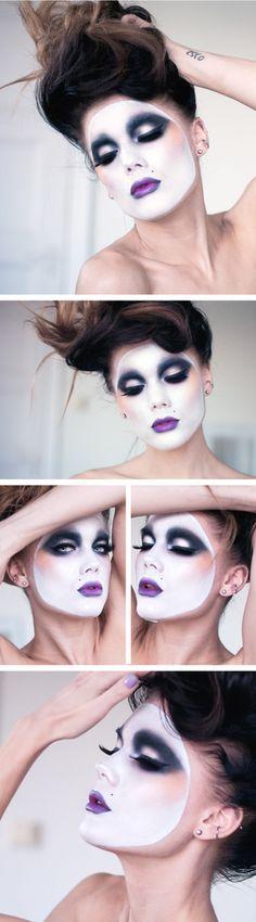 Halloween mask, beauty makeup.