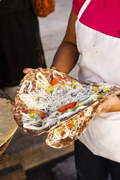 A street vendor with tortillas. Oaxaca is know for its delicious food.