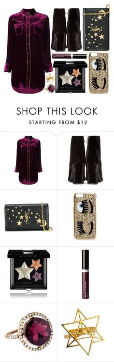 """street style"" by sisaez ❤ liked on Polyvore featuring Yves Saint Laurent, Chiara Ferragni, Givenchy, Beauty Is Life and Accessorize"