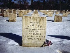 """Ann Lee: 1736-1784; Ann Lee was the leader of the United Society of Believers in Christ's Second Appearing, or Shakers. In 1774 she and her followers emigrated from England to New York. After several years, they gathered at Niskayuna in Albany County, New York. They worshiped by ecstatic dancing or """"shaking"""", which dubbed them as the Shaking Quakers, or Shakers. Ann Lee preached to the public and led the Shaker church at a time when few women did either."""