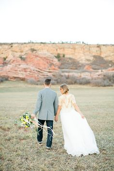 Bride and Groom in the National Park | Callie Hobbs Photography | Bohemian Desert Wedding Shoot in Colorado