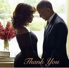 44th President and First Lady of the United States: Barack & Michelle Obama