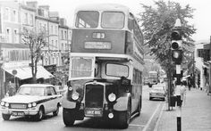 Maidstone & Ditrict Route 83 (West Station to Ravenswood Avenue) at the top of Mount Pleasant, C1965.