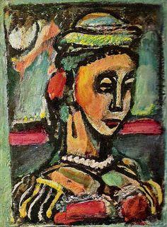 Georges Rouault, Buste de femme, 1939