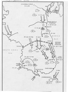 This is a map of the Bataan Death March, located in the