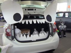 We love this Trunk or Treat Idea! Would you like to see this at our dealership? Trunk Or Treat, Toyota Cars, School Parties, Holiday Festival, Witches, Teacher Gifts, Showroom, Happy Halloween, School Ideas