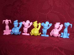 Ü-Ei Figur Disney Radiergummi Donald Micky Pluto 70er Jahre
