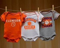 Clemson Baby 3 Pack Creepers
