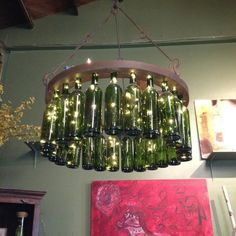 Wine bottle light. Must do this!