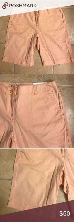Nwt size 8 p peach LOFT mid thigh shorts Nwt size 8 p peach LOFT mid thigh shorts LOFT Shorts