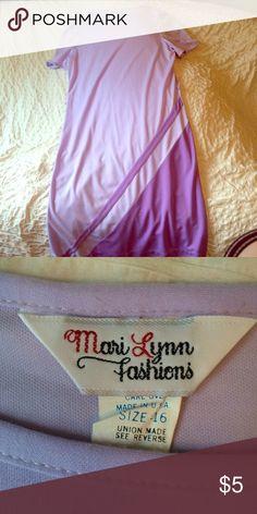 Vintage purple sack dress Mari Lynn fashions vintage purple sack dress with geometric design on Botton hem Vintage Dresses Midi