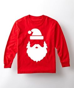 Another great find on #zulily! Red Santa Silhouette Long-Sleeve Tee - Toddler & Kids #zulilyfinds