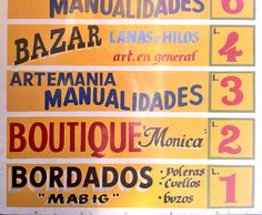 More hand painted signage in Santiago, Chile