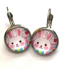 I just discovered this while shopping on Poshmark: Pink bunny rabbit ear rings. Check it out! Price: $6 Size: OS, listed by abbeyjoy