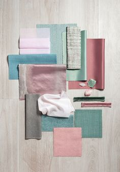 SAHCO Collection Be One | BE DELICATE collage – picks up one of the latest fashion themes: furnishings in pastels, rose-pink, blue and delicate greens – interweaving colours for fashionable interiors.