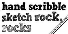 Hand Scribble Sketch Rock - Webfont & Desktop font « MyFonts