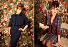 Loving the dress on the right, from Lena Hoschek's Fall collection