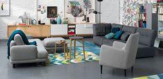 Renueva el suelo con linóleo y en las paredes deja el soporte a la vista. Muebles de Habitat.